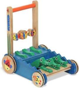 Melissa & Doug Chomp & Clack Alligator Push Toy