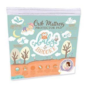 Baby&Brooke Organic Bamboo Fitted Crib Mattress Pad-min