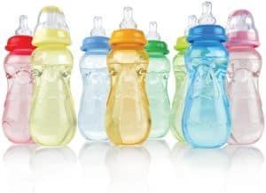 Nuby 3-Pack Non-Drip Standard Neck Bottles