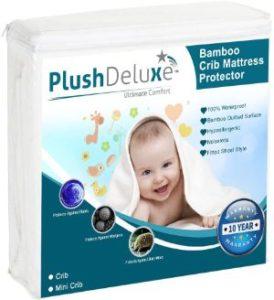 PlushDeluxe Crib Mattress Protector-min