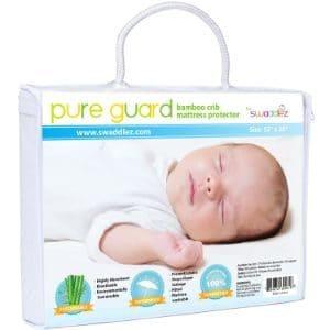 Swaddlez Pure Guard Bamboo Crib Mattress Protector-min