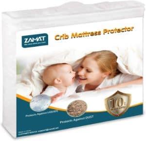 ZAMAT Premium 100% Waterproof Mattress Protector-min